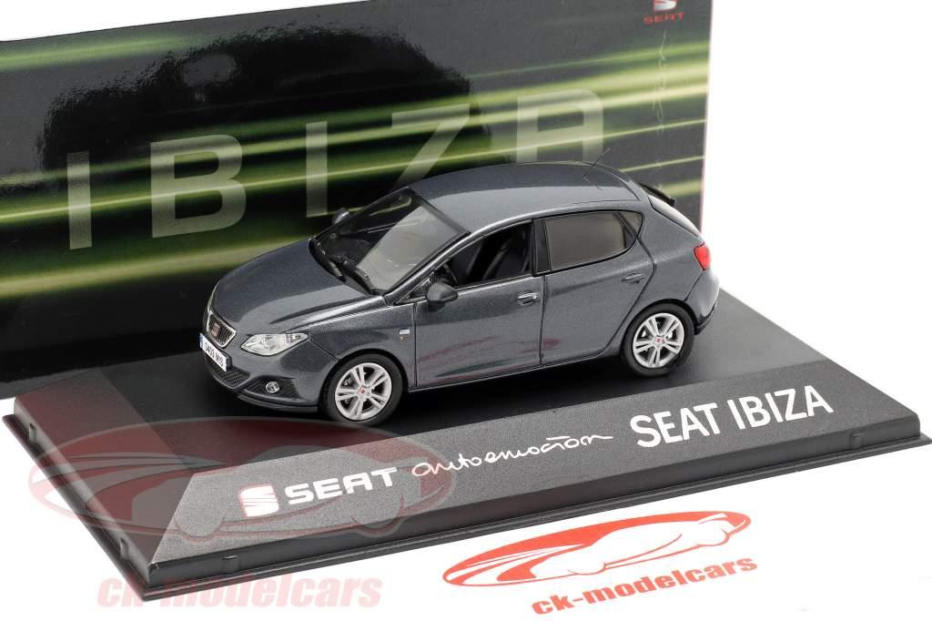 Seat Ibiza IV año de construcción 2008-2017 gris oscuro metálico 1:43 Seat