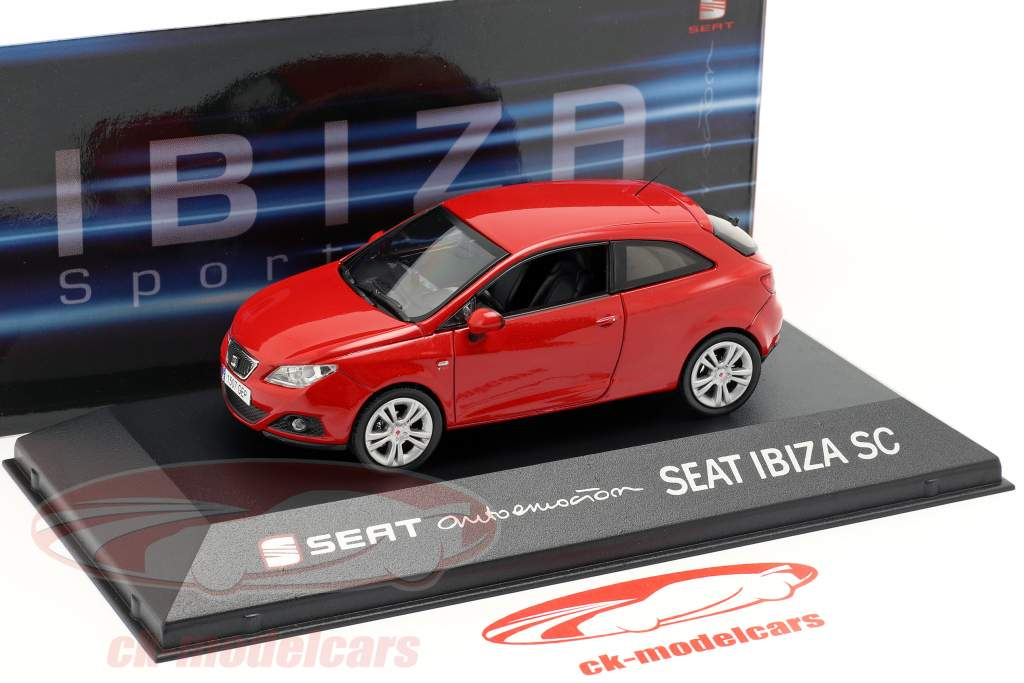 Seat Ibiza SC Bouwjaar 2013 rood 1:43 Seat