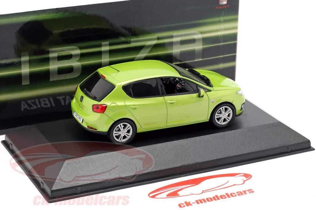 Seat Ibiza IV Opførselsår 2008-2017 amarillo citrus grøn metallisk 1:43 Seat