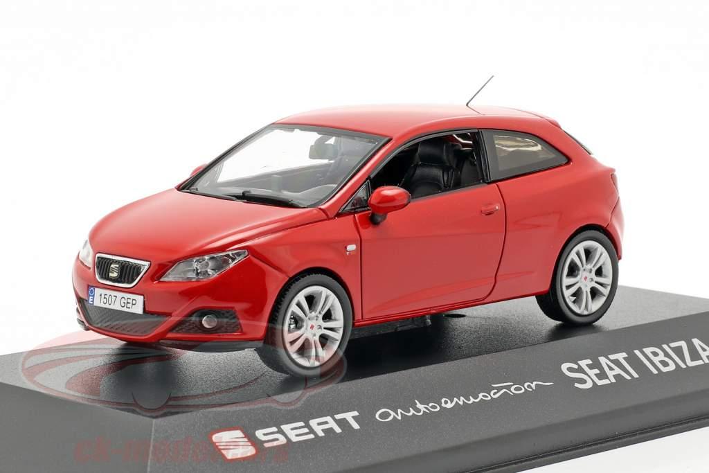 Seat Ibiza SC ano de construção 2013 vermelho 1:43 Seat