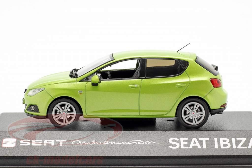 Seat Ibiza IV año de construcción 2008-2017 amarillo citrus verde metálico 1:43 Seat