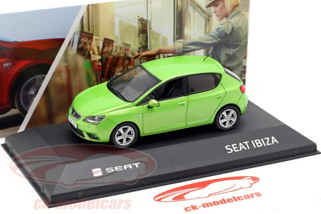 Seat Ibiza IV Opførselsår 2008-2017 face grøn metallisk 1:43 Seat