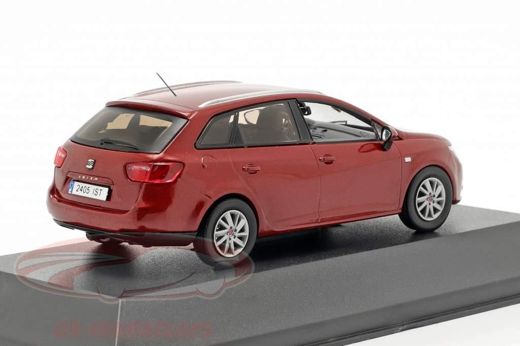 Seat Ibiza ST escuro vermelho metálico 1:43 Seat