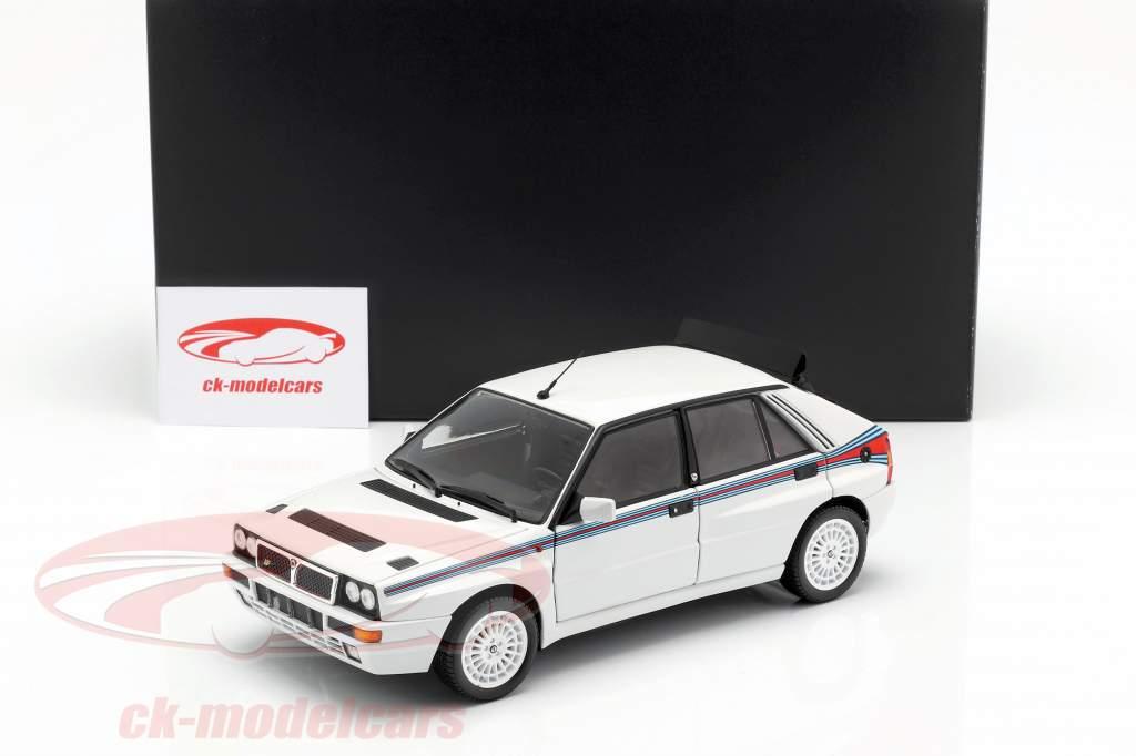 Lancia Delta HF Integrale 5 ano de construção 1991 branco / Martini libré 1:18 Kyosho