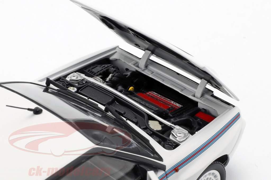 Lancia Delta HF Integrale 5 anno di costruzione 1991 bianco / Martini livrea 1:18 Kyosho
