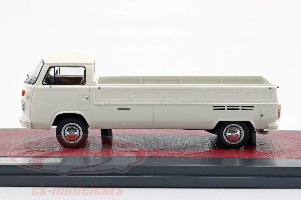 Volkswagen VW T2 Kemperink Speciaal Pick-Up ano de construção 1976 branco 1:43 Matrix