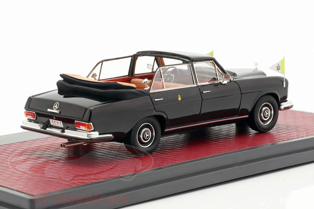 Mercedes-Benz 300SEL Landaulette Vatican City Open Top 1967 black 1:43 Matrix