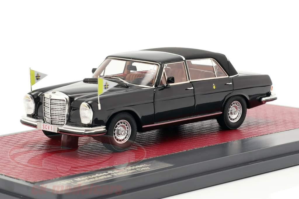 Mercedes-Benz 300SEL Landaulette Vatican City Closed Top 1967 black 1:43 Matrix