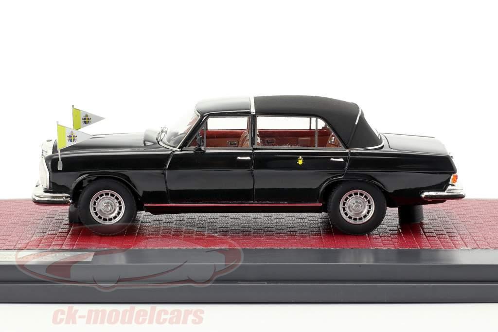 Mercedes-Benz 300SEL Landaulette Vaticano ciudad Closed Top 1967 negro 1:43 Matrix