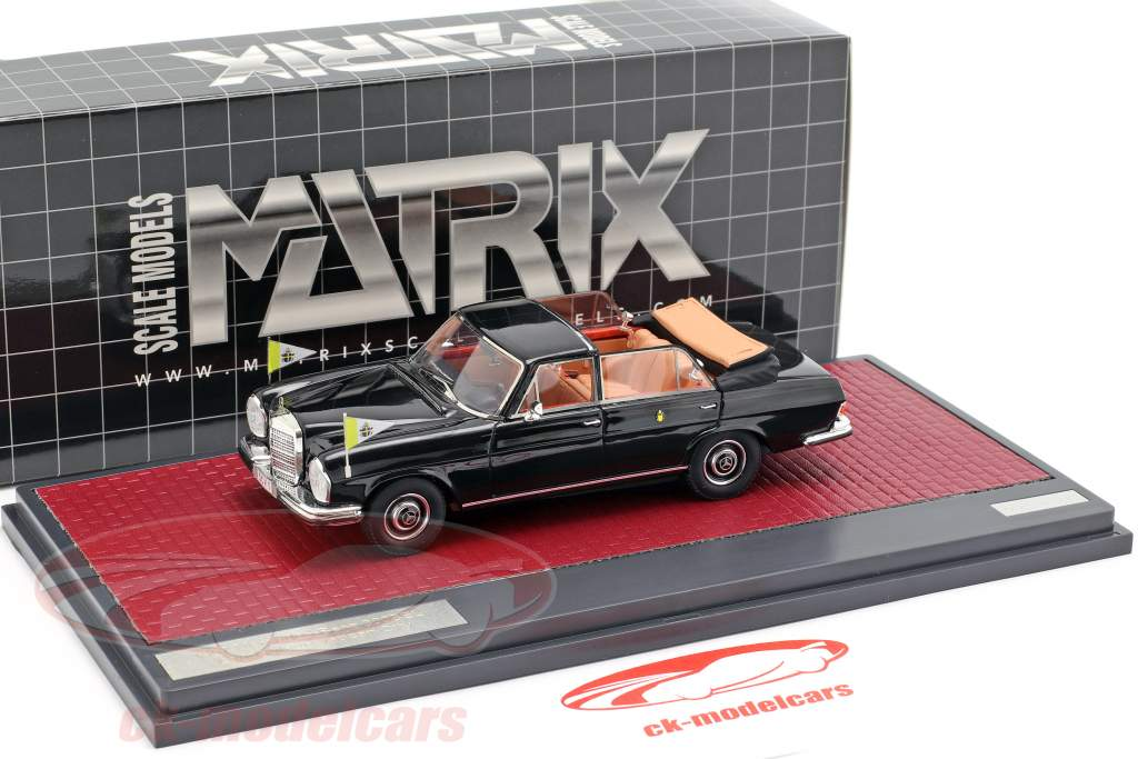 Mercedes-Benz 300SEL Landaulette Vatikanet by Open Top 1967 sort 1:43 Matrix