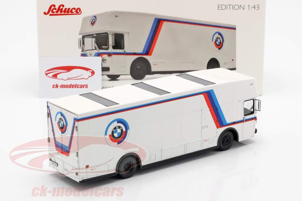 Mercedes-Benz O 317 course camion BMW Motorsport blanc 1:43 Schuco