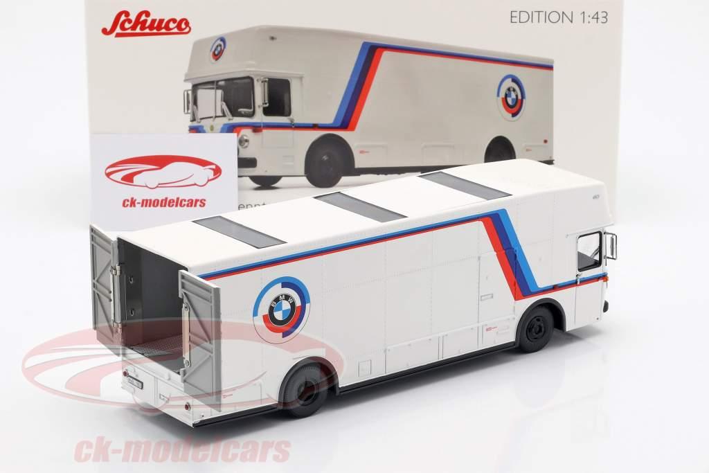 Mercedes-Benz O 317 Renntransporter BMW Motorsport weiß 1:43 Schuco