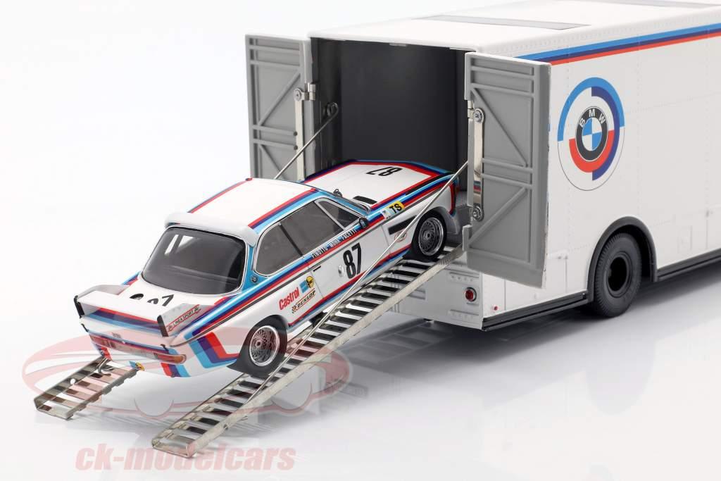 Mercedes-Benz O 317 raza camión BMW Motorsport blanco 1:43 Schuco