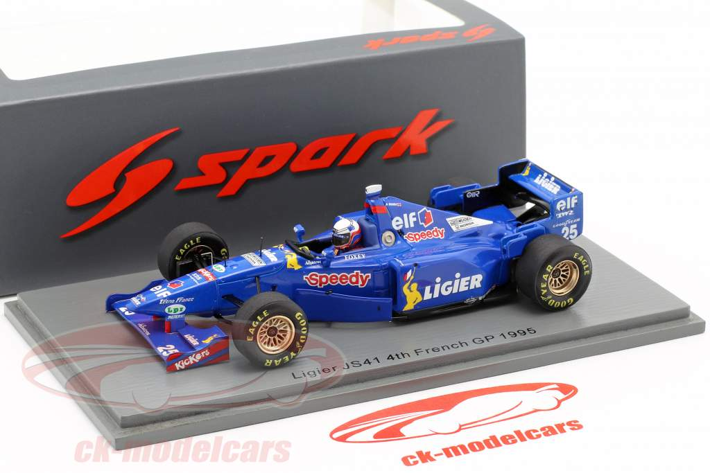 Martin Brundle Ligier JS41 #25 4th Frankreich GP Formel 1 1995 1:43 Spark