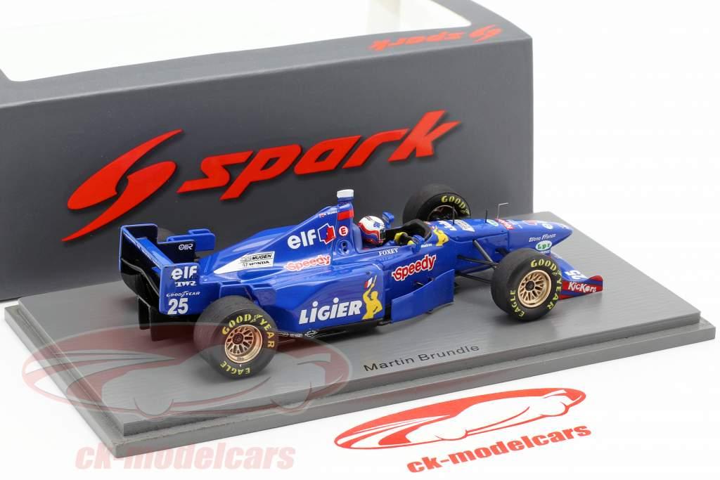Martin Brundle Ligier JS41 #25 4. fransk GP formel 1 1995 1:43 Spark
