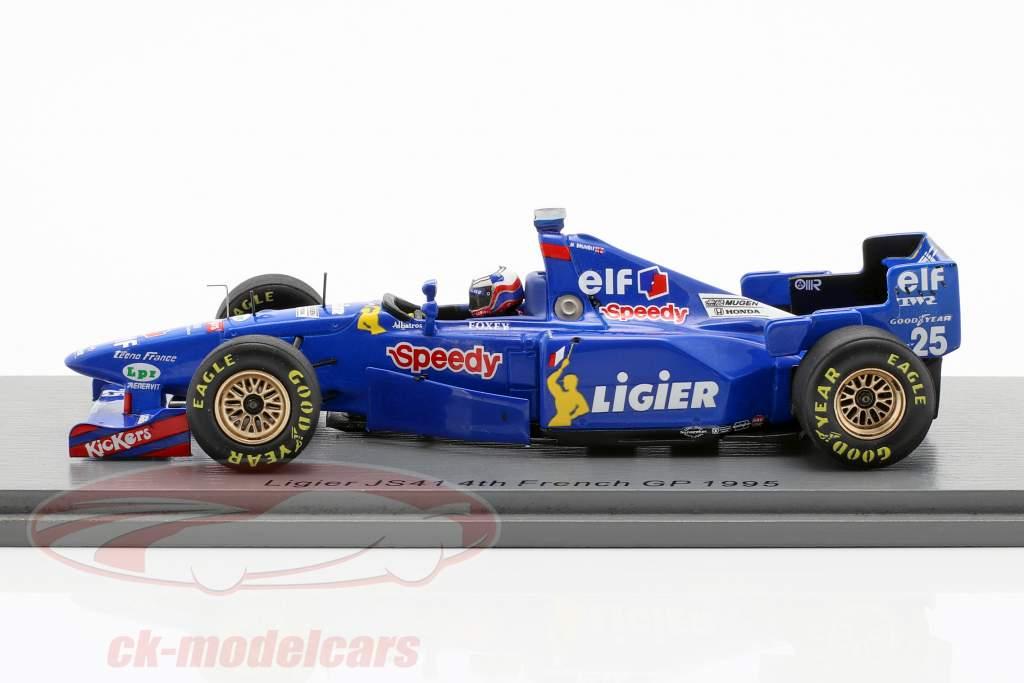 Martin Brundle Ligier JS41 #25 cuarto francés GP fórmula 1 1995 1:43 Spark