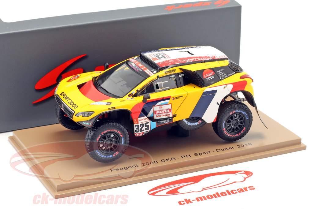 Peugeot 2008 DKR #325 Dakar Rallye 2019 Lachaume, Polato 1:43 Spark