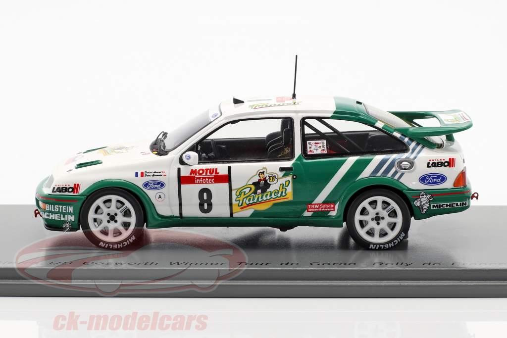 Ford Sierra RS Cosworth #8 ganador Rallye Tour de Corse 1988 1:43 Spark