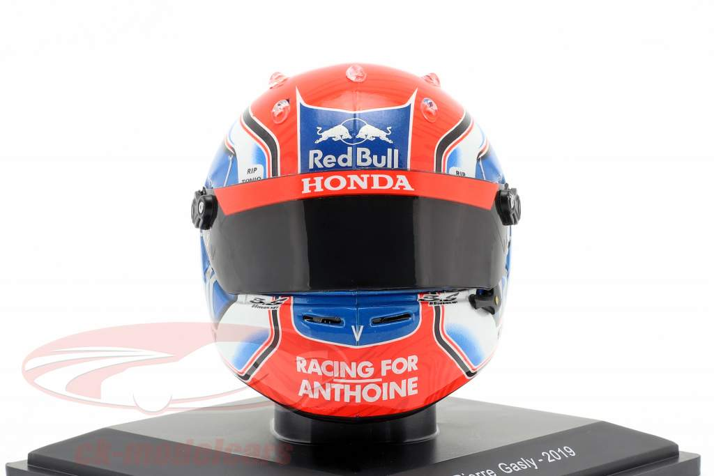 Pierre Gasly #10 Aston Martin Red Bull Racing fórmula 1 2019 capacete 1:5 Spark