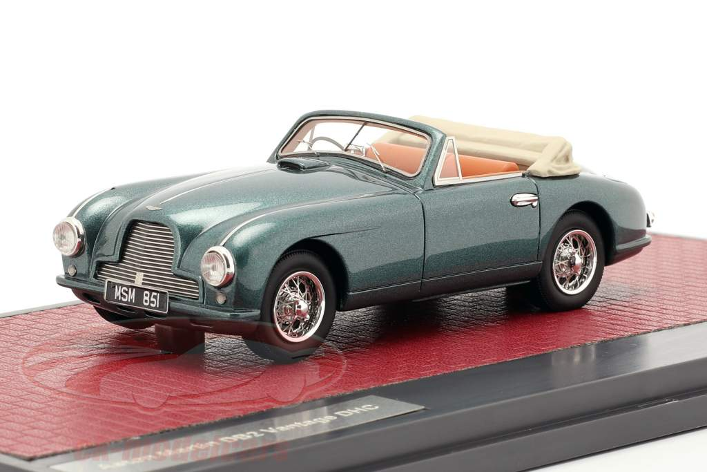 Aston Martin DB2 Vantage DHC Open Top 1951 verde metálico 1:43 Matrix