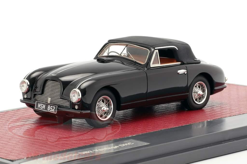 Aston Martin DB2 Vantage DHC Closed Top 1951 negro 1:43 Matrix