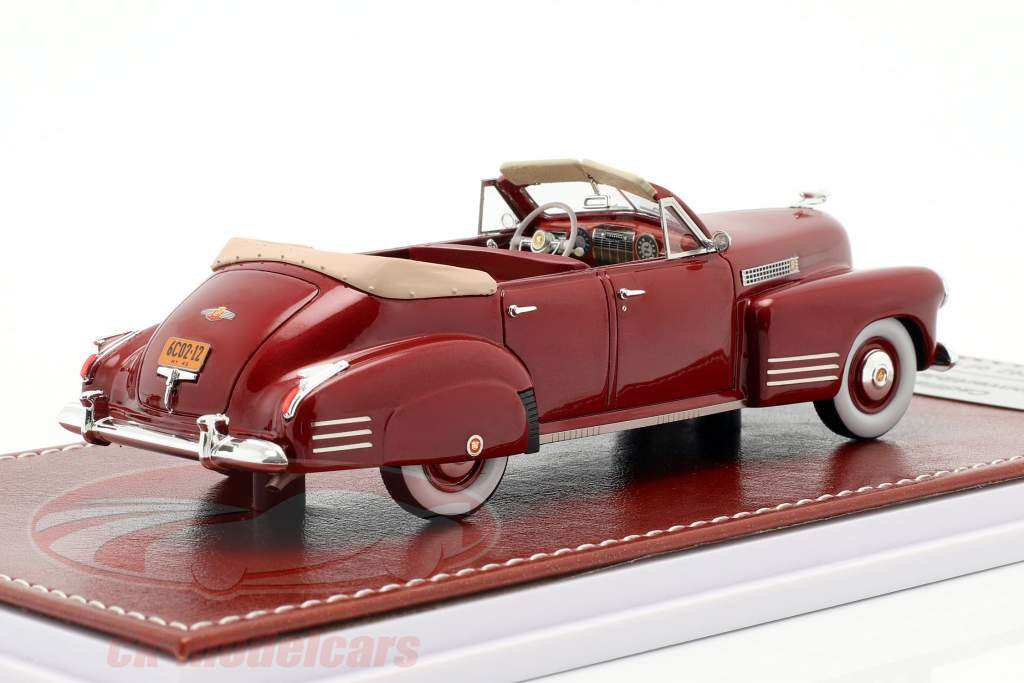 Cadillac Series 62 Cabriolet Sedan Open Top 1941 rødbrun metallisk 1:43 Great Iconic Models
