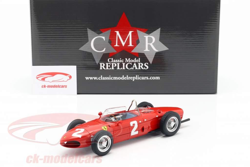 Phil Hill Ferrari 156 Sharknose #2 italiano GP campeão do mundo F1 1961 1:18 CMR
