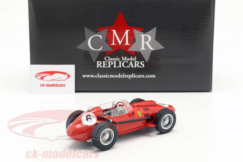 Mike Hawthorn Ferrari Dino 246 #6 segundo Marruecos GP campeón del mundo F1 1958 1:18 CMR