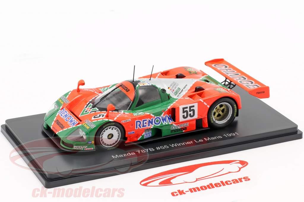 Mazda 787B #55 勝者 24h LeMans 1991 Weidler, Herbert, Gachot 1:43 Spark