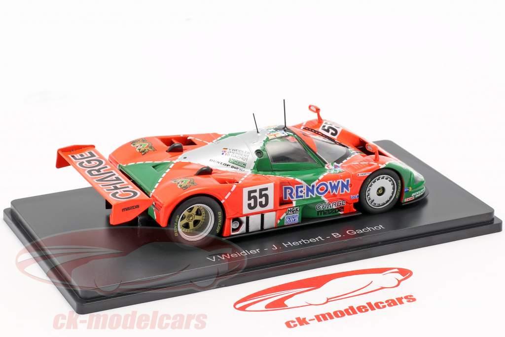 Mazda 787B #55 ganador 24h LeMans 1991 Weidler, Herbert, Gachot 1:43 Spark