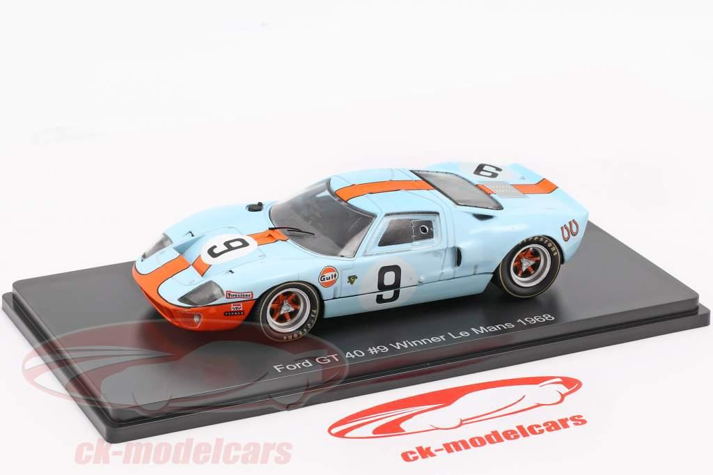 Ford GT 40 Gulf #9 vincitore 24h LeMans 1968 Rodriguez, Bianchi 1:43 Spark