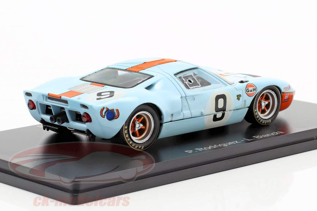 Ford GT 40 Gulf #9 ganador 24h LeMans 1968 Rodriguez, Bianchi 1:43 Spark