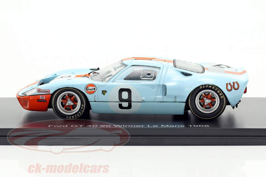 Ford GT 40 Gulf #9 Sieger 24h LeMans 1968 Rodriguez, Bianchi 1:43 Spark