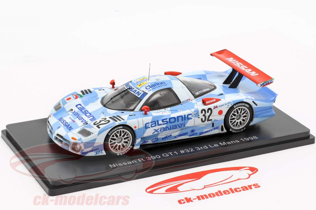 Nissan R390 GT1 #32 3 24h LeMans 1998 Suzuki, Hoshino, Kageyama 1:43 Spark