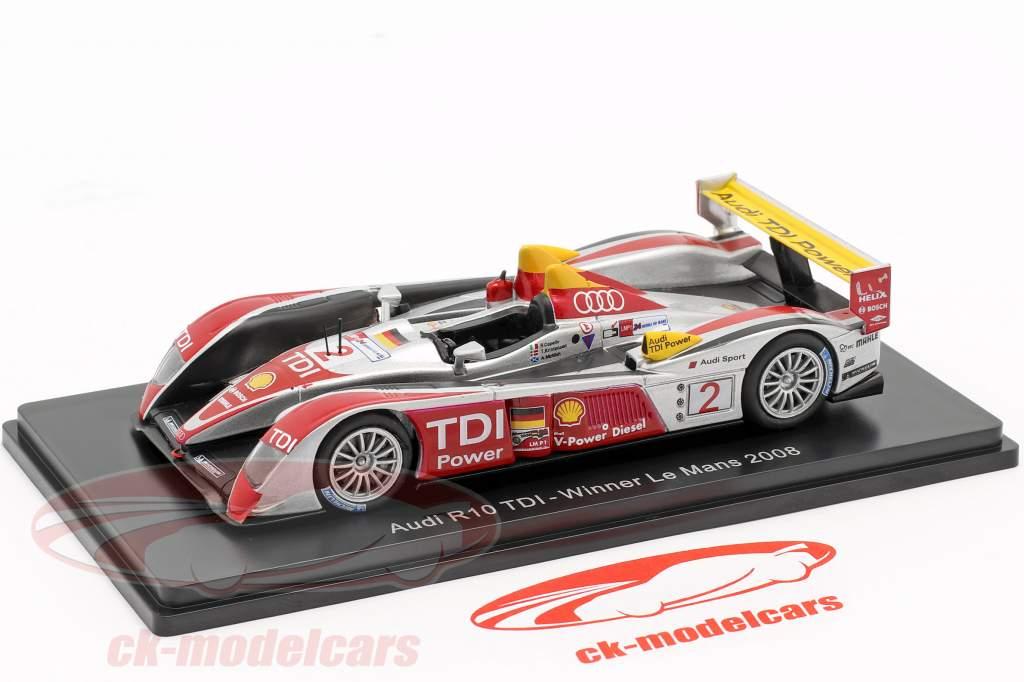Audi R10 TDI #2 vincitore 24h LeMans 2008 Capello, Kristensen, McNish 1:43 Spark