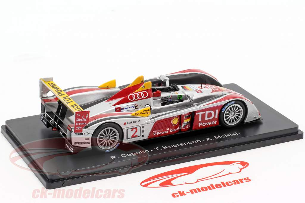 Audi R10 TDI #2 ganador 24h LeMans 2008 Capello, Kristensen, McNish 1:43 Spark