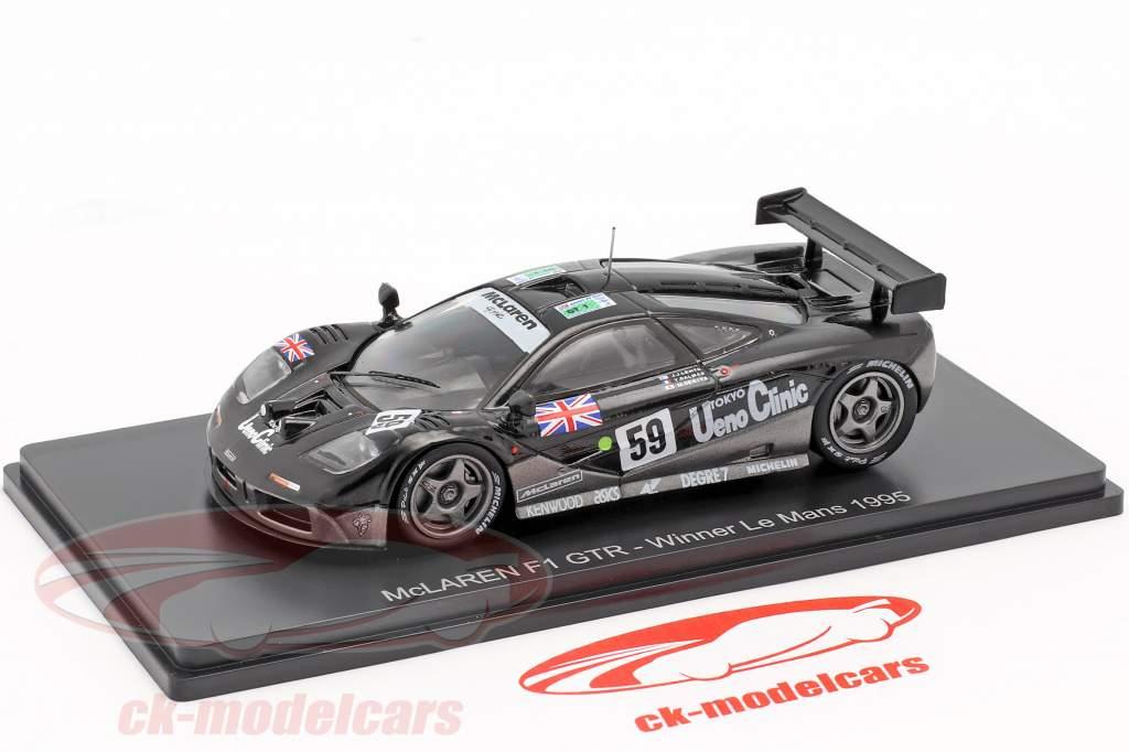 McLaren F1 GTR #59 vencedor 24h LeMans 1995 Lehto, Dalmas, Sekiya 1:43 Spark