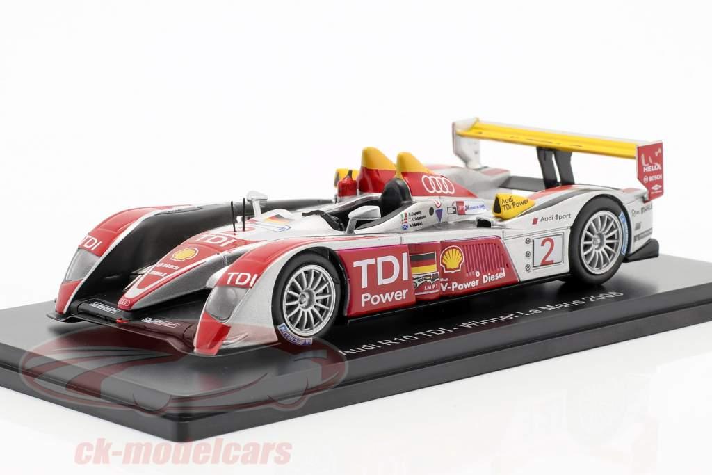 Audi R10 TDI #2 vinder 24h LeMans 2008 Capello, Kristensen, McNish 1:43 Spark