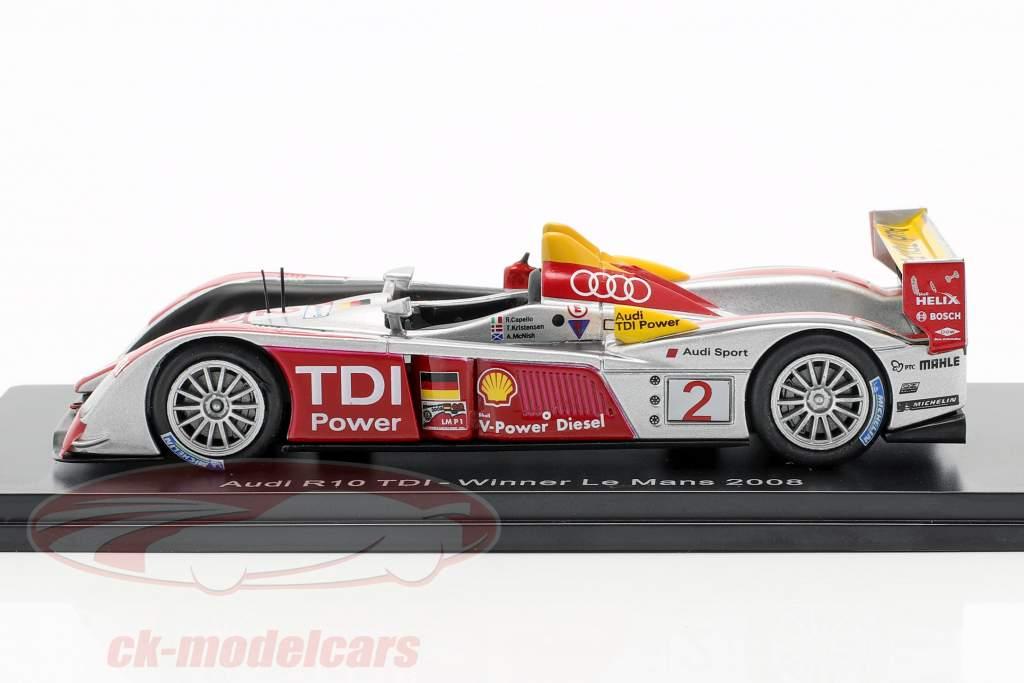 Audi R10 TDI #2 winnaar 24h LeMans 2008 Capello, Kristensen, McNish 1:43 Spark