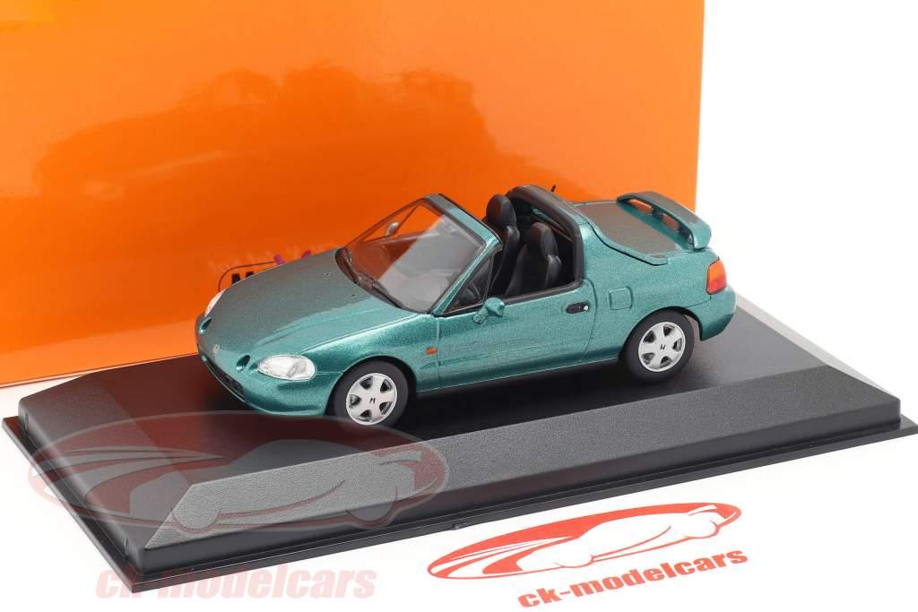 Honda CR-X del Sol Baujahr 1992 grün metallic 1:43 Minichamps
