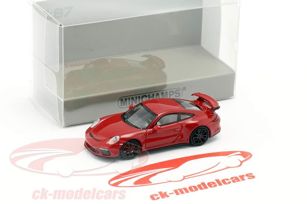 Porsche 911 GT3 Opførselsår 2017 rød 1:87 Minichamps