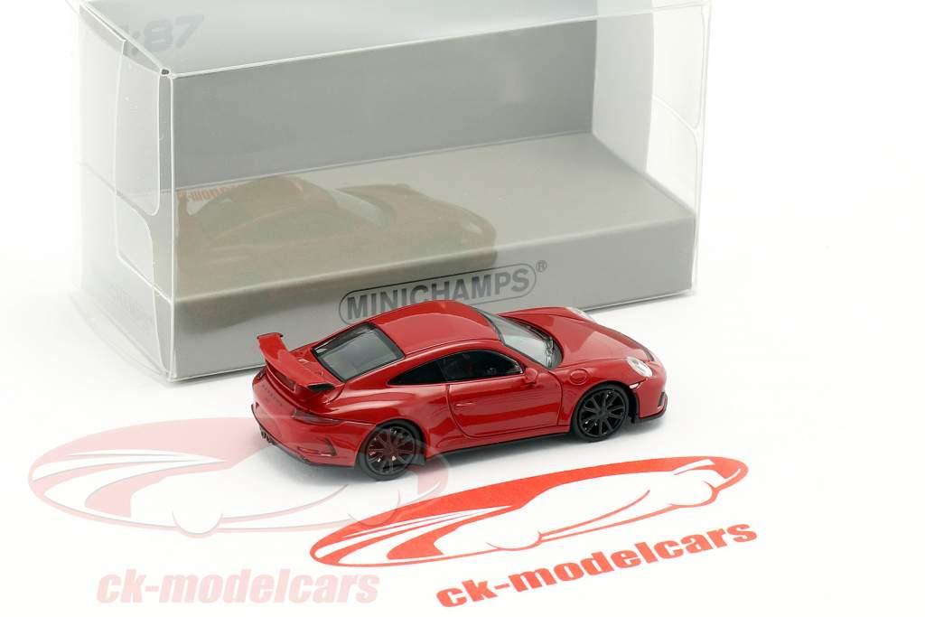 Porsche 911 GT3 ano de construção 2017 vermelho 1:87 Minichamps