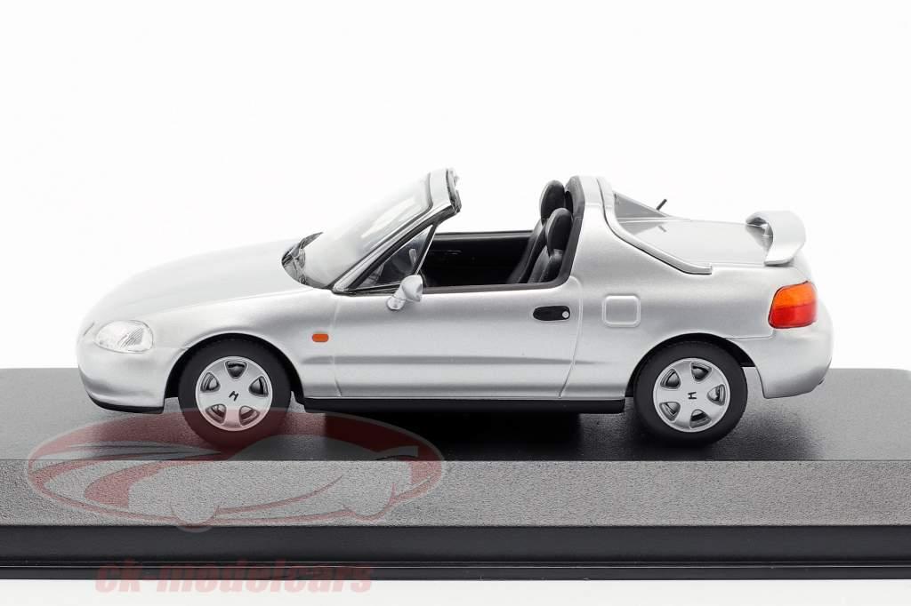 Honda CR-X del Sol année de construction 1992 argent métallique 1:43 Minichamps