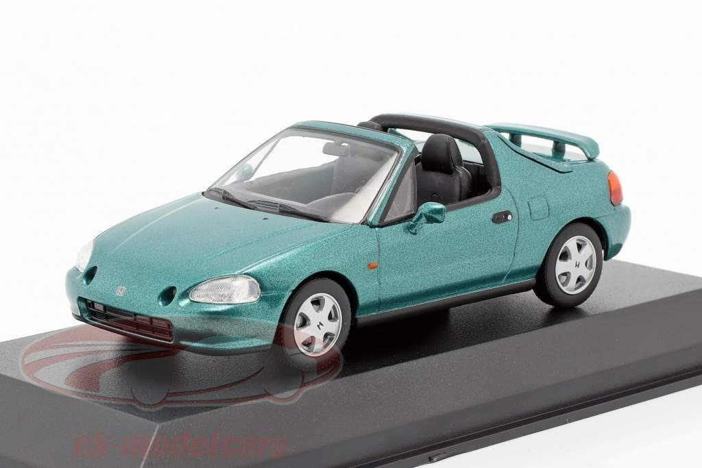 Honda CR-X del Sol Opførselsår 1992 grøn metallisk 1:43 Minichamps