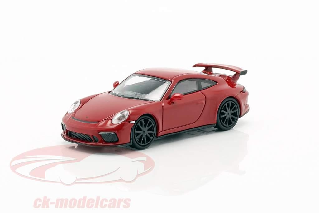 Porsche 911 GT3 année de construction 2017 rouge 1:87 Minichamps