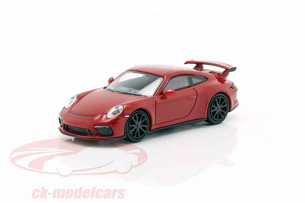 Porsche 911 GT3 anno di costruzione 2017 rosso 1:87 Minichamps