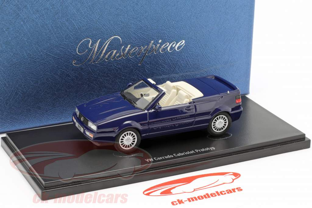 Volkswagen VW Corrado Cabriolet Prototype 1993 dark blue 1:43 AutoCult
