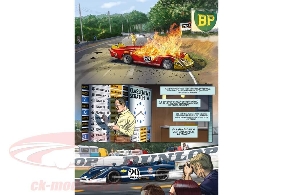 Comic-Set: Steve McQueen in LeMans + E Steve McQueen creato LeMans / da Sandro Garbo
