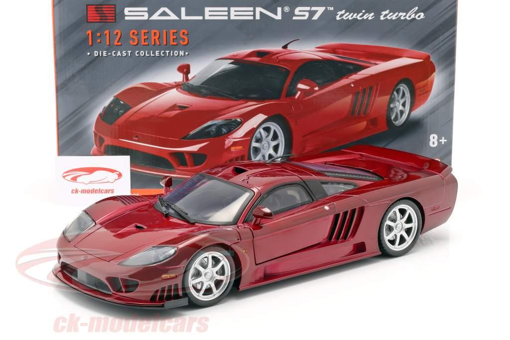 Saleen S7 Twin Turbo año de construcción 2005 rojo metálico 1:12 MotorMax