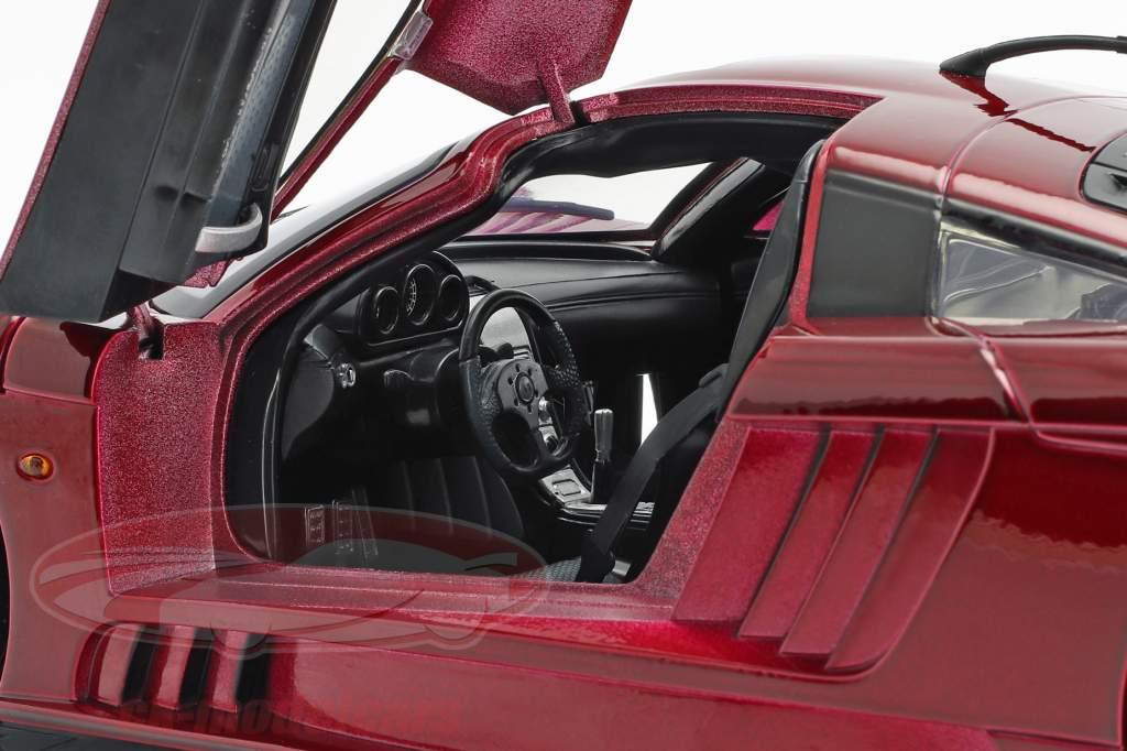 Saleen S7 Twin Turbo anno di costruzione 2005 rosso metallico 1:12 MotorMax
